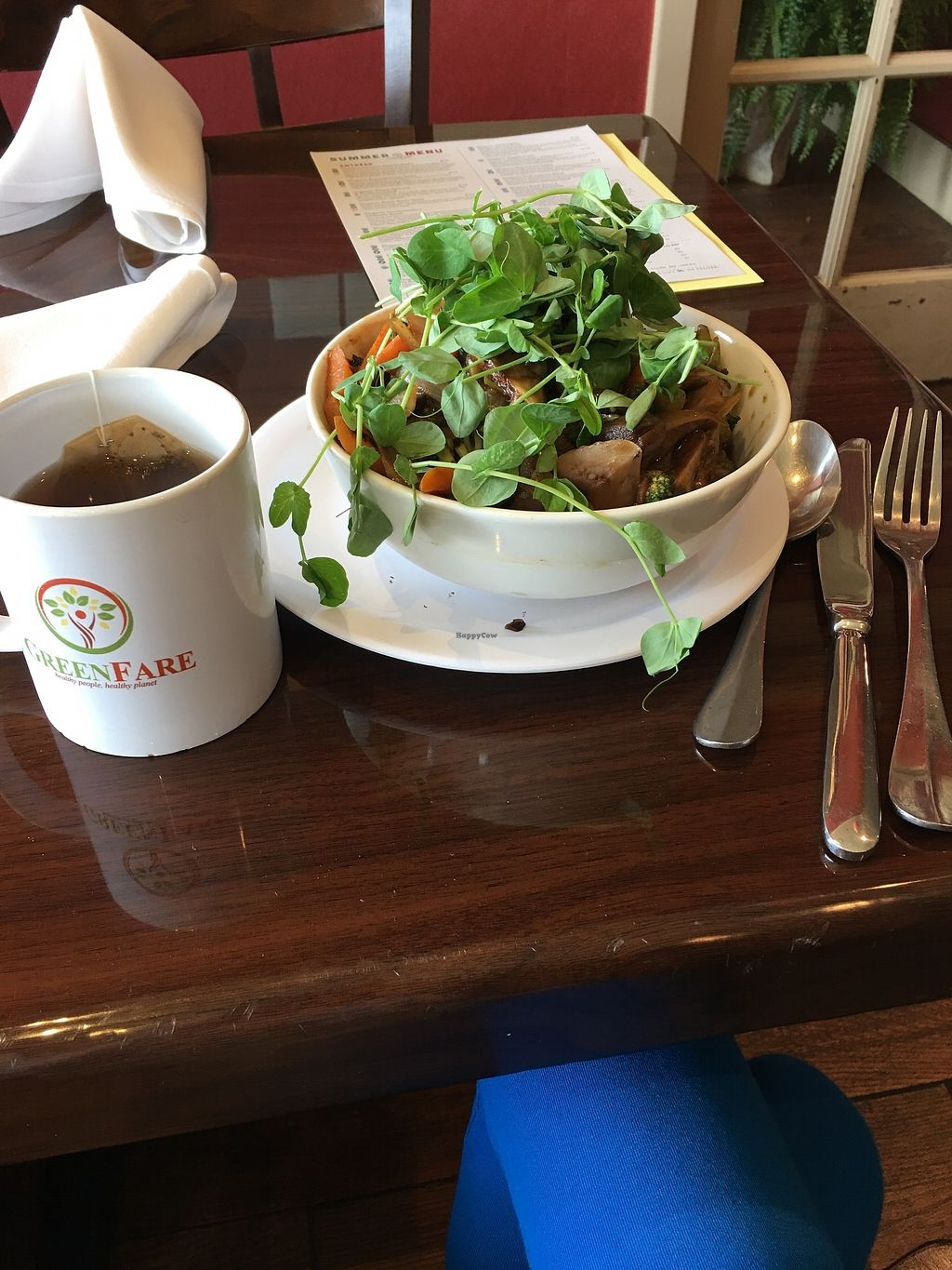 """Photo of GreenFare Organic Cafe  by <a href=""""/members/profile/EarthyMurphy"""">EarthyMurphy</a> <br/>I visited a few weeks ago while rushing for time on the way to the airport. I've never been to such a clean and loving environment. I felt educated and cared for there. Organic Non-GMO food is a rare find and these people go above and beyond for their customers. I discovered that celebrities have even eaten here! So grateful for this find! Thank you! <br/> July 21, 2017  - <a href='/contact/abuse/image/65180/282722'>Report</a>"""