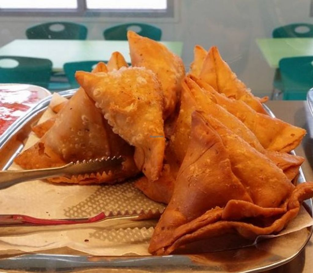 """Photo of Vegetarian Chapati  by <a href=""""/members/profile/community"""">community</a> <br/>samosas <br/> November 8, 2015  - <a href='/contact/abuse/image/65213/124344'>Report</a>"""