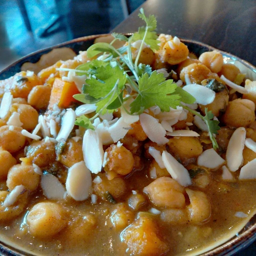 """Photo of Lunya  by <a href=""""/members/profile/Veganolive1"""">Veganolive1</a> <br/>Moroccan chickpeas with butternut squash, apricots and almonds <br/> August 3, 2016  - <a href='/contact/abuse/image/65245/165106'>Report</a>"""