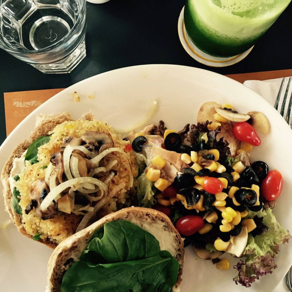"Photo of Wild Jordan Cafe  by <a href=""/members/profile/Vera%20Peres"">Vera Peres</a> <br/>Quinoa burger <br/> November 2, 2015  - <a href='/contact/abuse/image/65253/123556'>Report</a>"