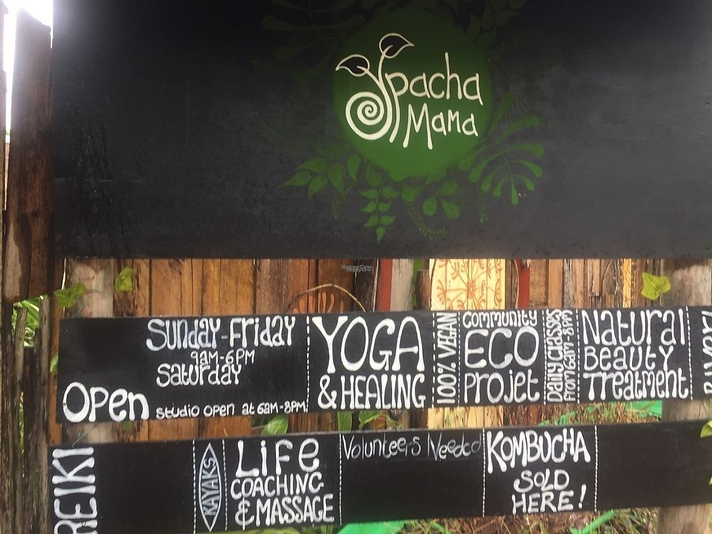 """Photo of CLOSED: Pachamama  by <a href=""""/members/profile/VeganTreeClimber"""">VeganTreeClimber</a> <br/>Front sign  <br/> January 18, 2017  - <a href='/contact/abuse/image/65281/212955'>Report</a>"""