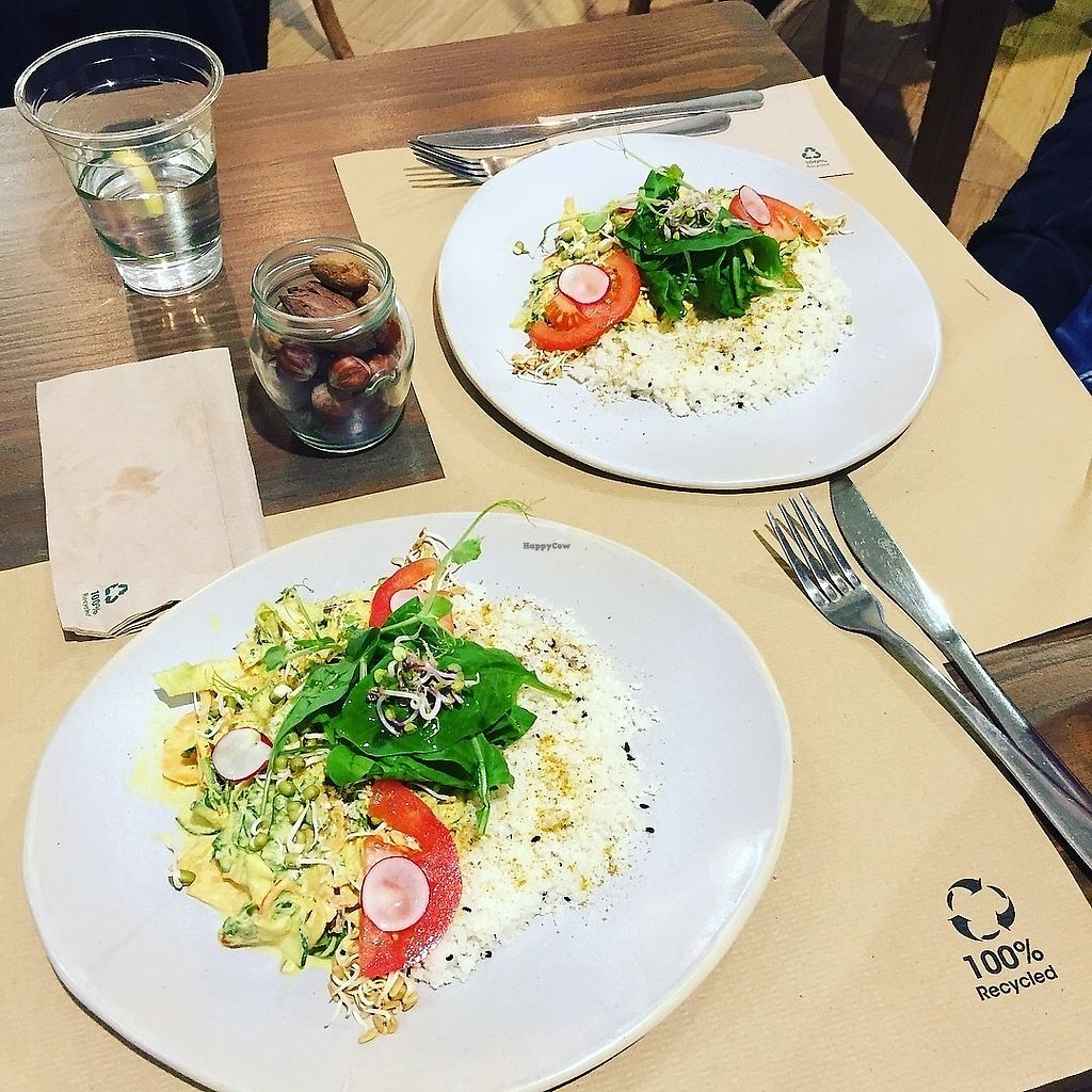 """Photo of Petit Brot - Cold Press, Raw, Eco  by <a href=""""/members/profile/JulkaHanudelova"""">JulkaHanudelova</a> <br/>Yellow curry with cauliflower rice! Super! :) <br/> November 27, 2017  - <a href='/contact/abuse/image/65288/329718'>Report</a>"""