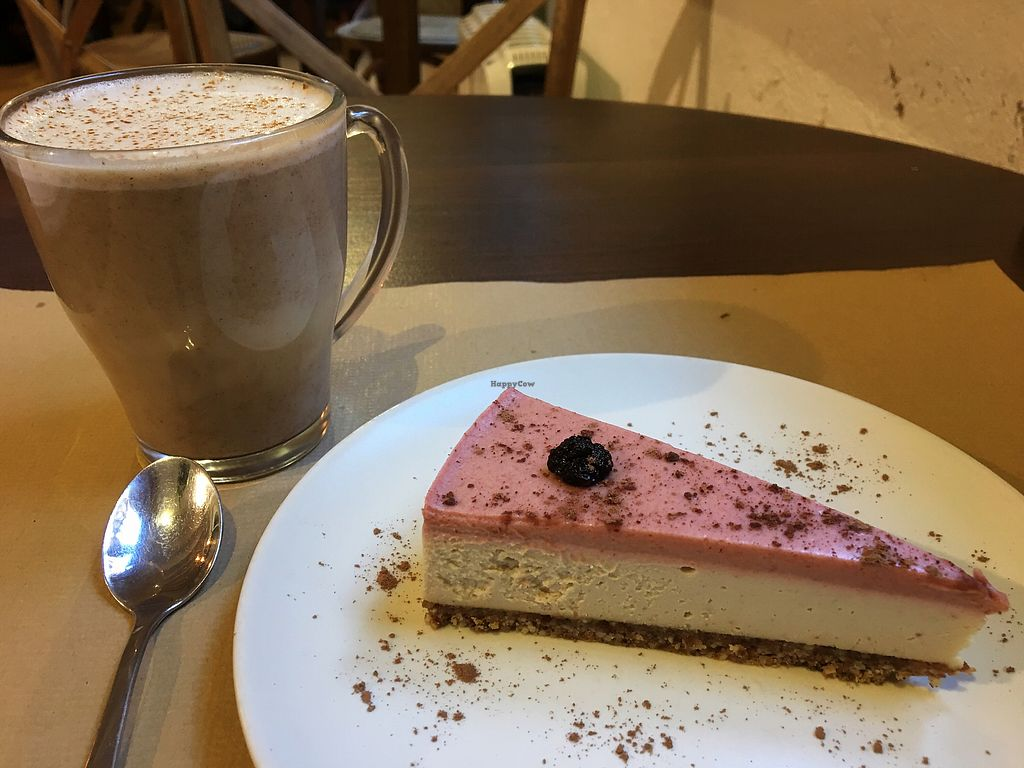 """Photo of Petit Brot - Cold Press, Raw, Eco  by <a href=""""/members/profile/Vegangypsy"""">Vegangypsy</a> <br/>Divine cheesecake  <br/> December 24, 2017  - <a href='/contact/abuse/image/65288/338596'>Report</a>"""