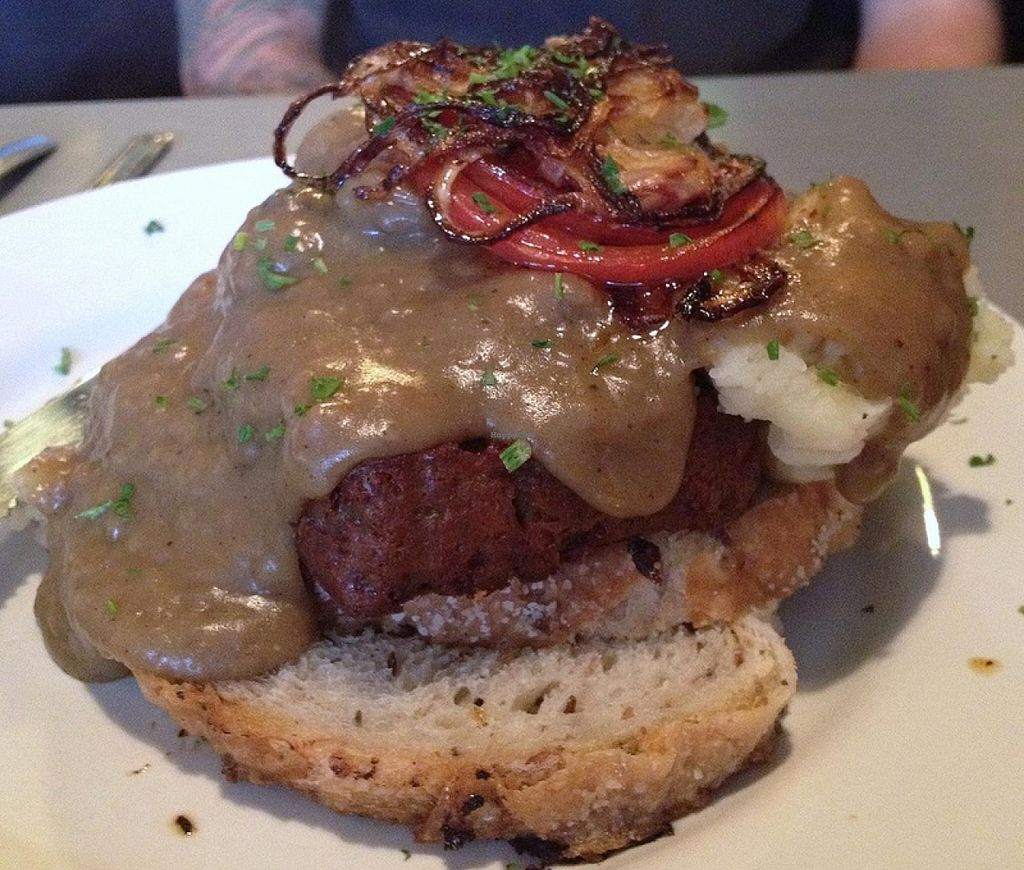 Photo of Comet Cafe  by RamblingVegans <br/>Vegan meatloaf sandwich.  They use Field Roast meatloaf for this.  <br/> March 2, 2014  - <a href='/contact/abuse/image/6528/65111'>Report</a>