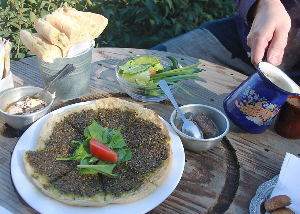 "Photo of Shams El Balad Cafe  by <a href=""/members/profile/The%20Hungry%20Vegan"">The Hungry Vegan</a> <br/>Za'atar Flatbread <br/> January 19, 2016  - <a href='/contact/abuse/image/65293/133033'>Report</a>"