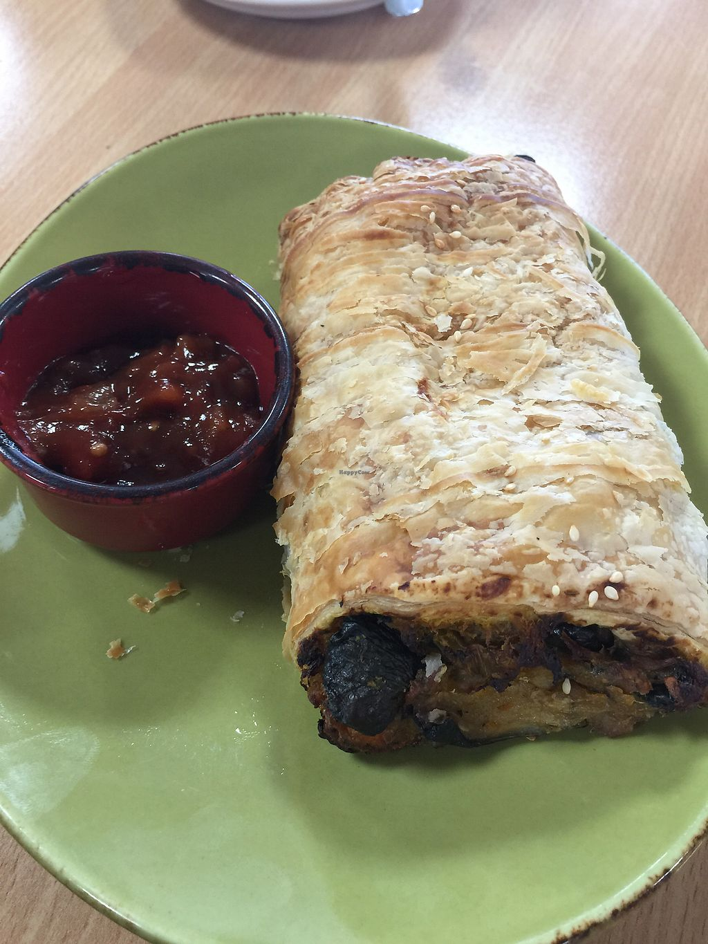 """Photo of Little Sheepish  by <a href=""""/members/profile/Mezz7"""">Mezz7</a> <br/>Vegan pastie with gorgeous  chutney  <br/> March 25, 2018  - <a href='/contact/abuse/image/65300/375747'>Report</a>"""