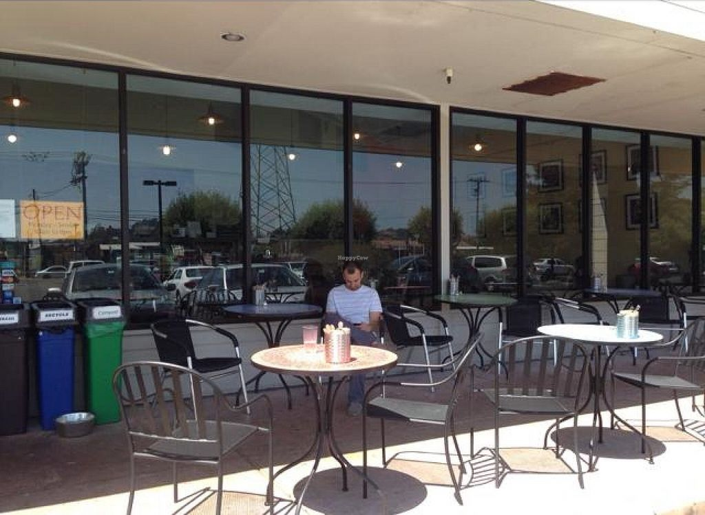 """Photo of Cafe del Soul  by <a href=""""/members/profile/AshleyLorden"""">AshleyLorden</a> <br/>seating outdoors along sidewalk (in a strip mall type complex) <br/> June 8, 2014  - <a href='/contact/abuse/image/6531/71636'>Report</a>"""