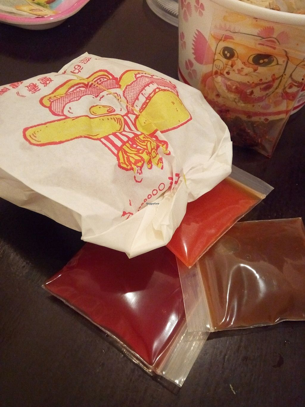 """Photo of Hsin Hao Vegetarian  by <a href=""""/members/profile/TenParamitas"""">TenParamitas</a> <br/>my take away burger from hsin hao <br/> March 21, 2018  - <a href='/contact/abuse/image/65323/373864'>Report</a>"""