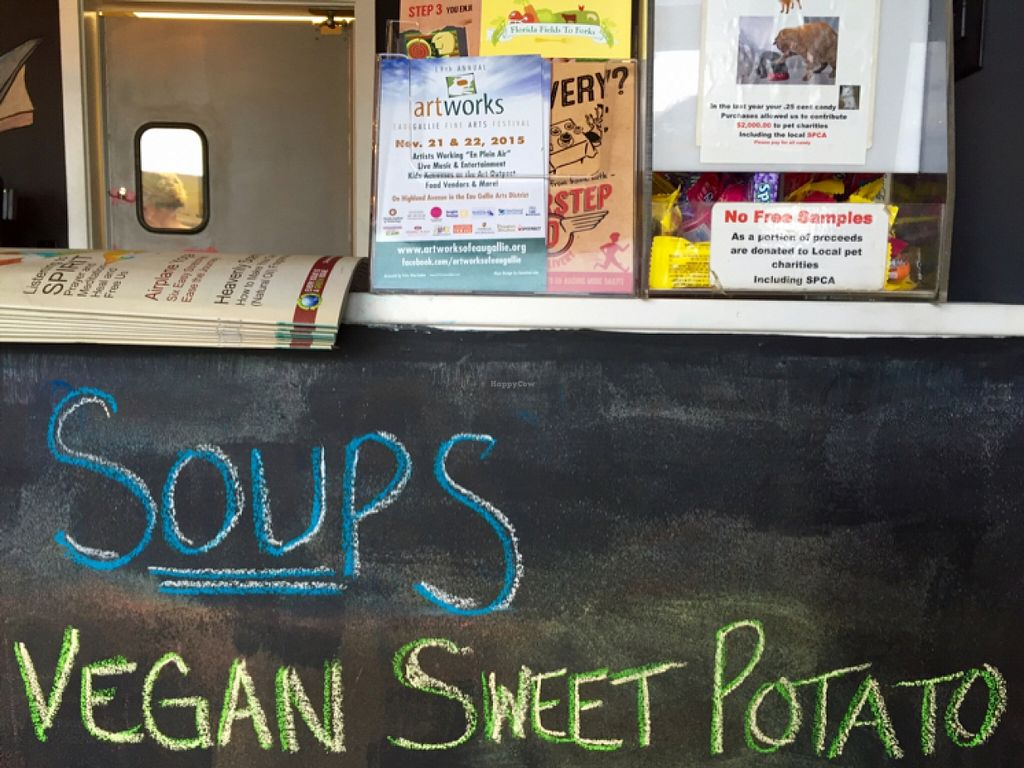 """Photo of The Nomad Cafe  by <a href=""""/members/profile/clovely.vegan"""">clovely.vegan</a> <br/>vegan soup! <br/> December 1, 2015  - <a href='/contact/abuse/image/65326/126793'>Report</a>"""
