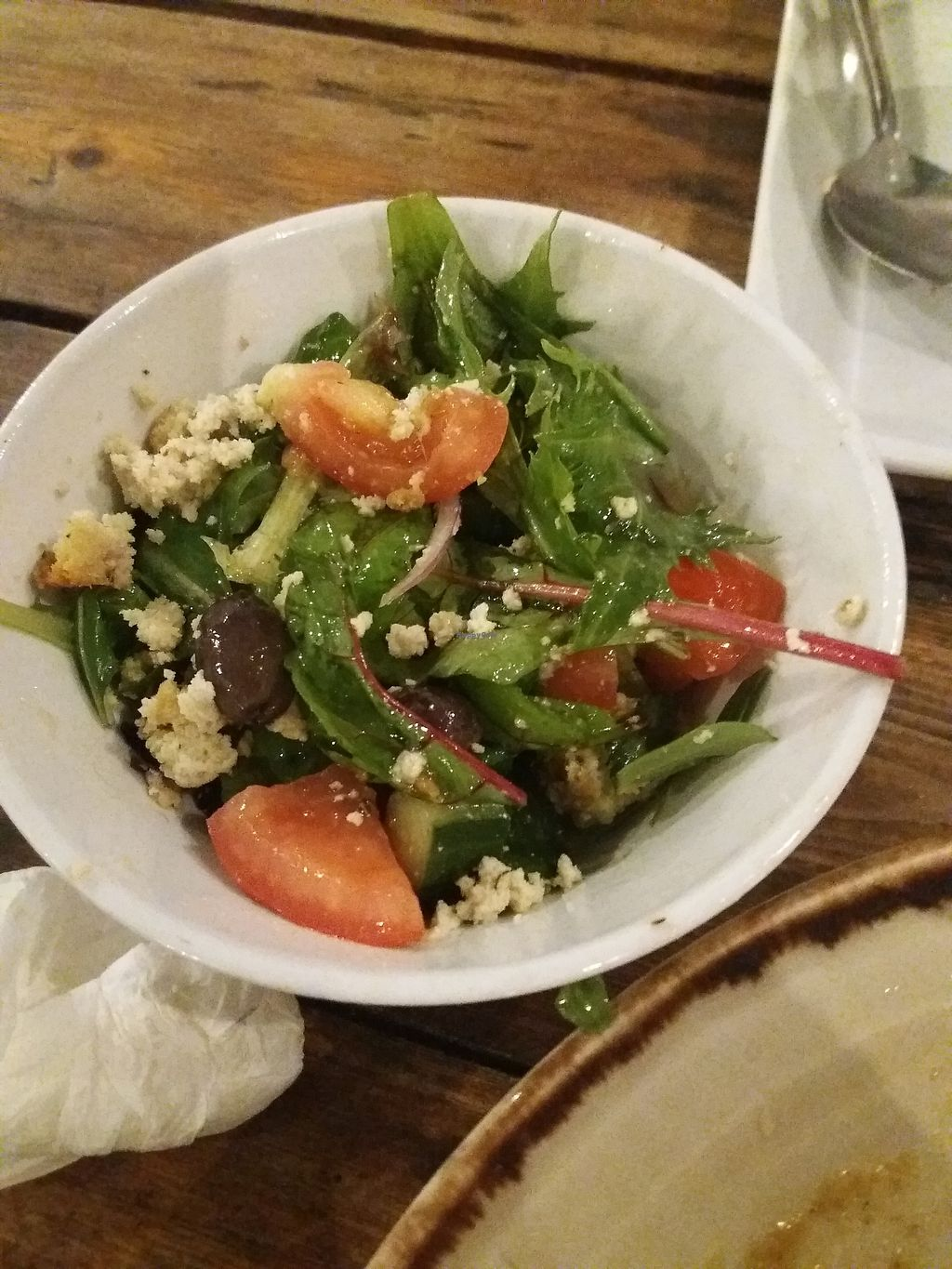 """Photo of Lentil As Anything - Thornbury  by <a href=""""/members/profile/veganvirtues"""">veganvirtues</a> <br/>Polenta salad <br/> October 15, 2017  - <a href='/contact/abuse/image/65328/315669'>Report</a>"""