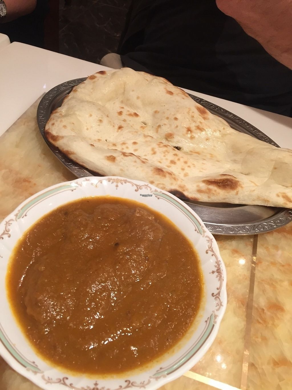 """Photo of Milan Nataraj Shibuya  by <a href=""""/members/profile/PaulaKollienGjerde"""">PaulaKollienGjerde</a> <br/>Soy meat curry + naan  <br/> April 19, 2017  - <a href='/contact/abuse/image/65365/249964'>Report</a>"""