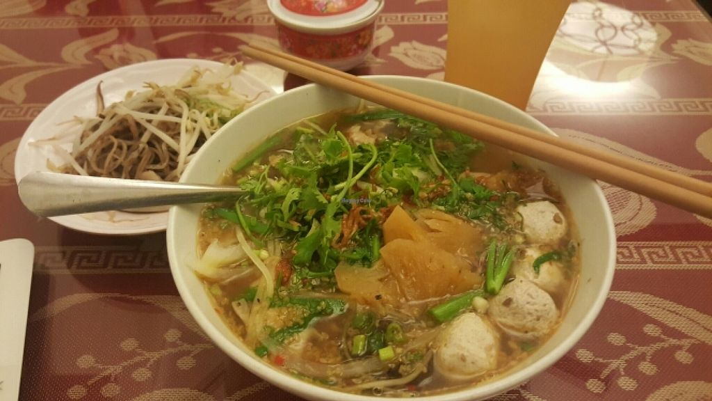 """Photo of CLOSED: Pho Nam Chay  by <a href=""""/members/profile/Refinnej"""">Refinnej</a> <br/>Bun Thái (Thấp Cam) Vermicelli in Thai spices with mixed veggies <br/> November 4, 2015  - <a href='/contact/abuse/image/65378/123921'>Report</a>"""