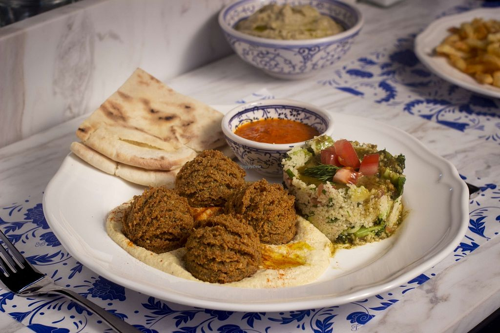"""Photo of Baba Ghanoush Falafel Shop  by <a href=""""/members/profile/Baba%20Ghanoush"""">Baba Ghanoush</a> <br/>Falafel on a Plate <br/> November 19, 2015  - <a href='/contact/abuse/image/65407/125466'>Report</a>"""