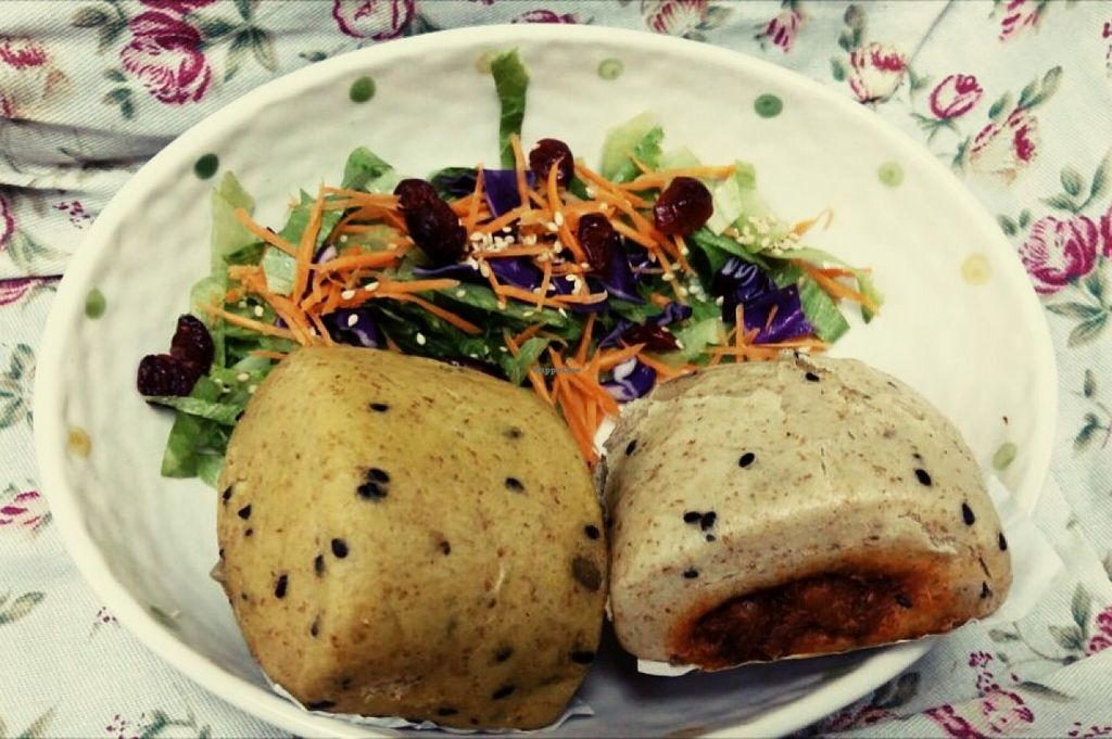 """Photo of Juve Wellness Centre  by <a href=""""/members/profile/community"""">community</a> <br/>steamed bun with stir fried veggies <br/> May 10, 2016  - <a href='/contact/abuse/image/65411/148402'>Report</a>"""