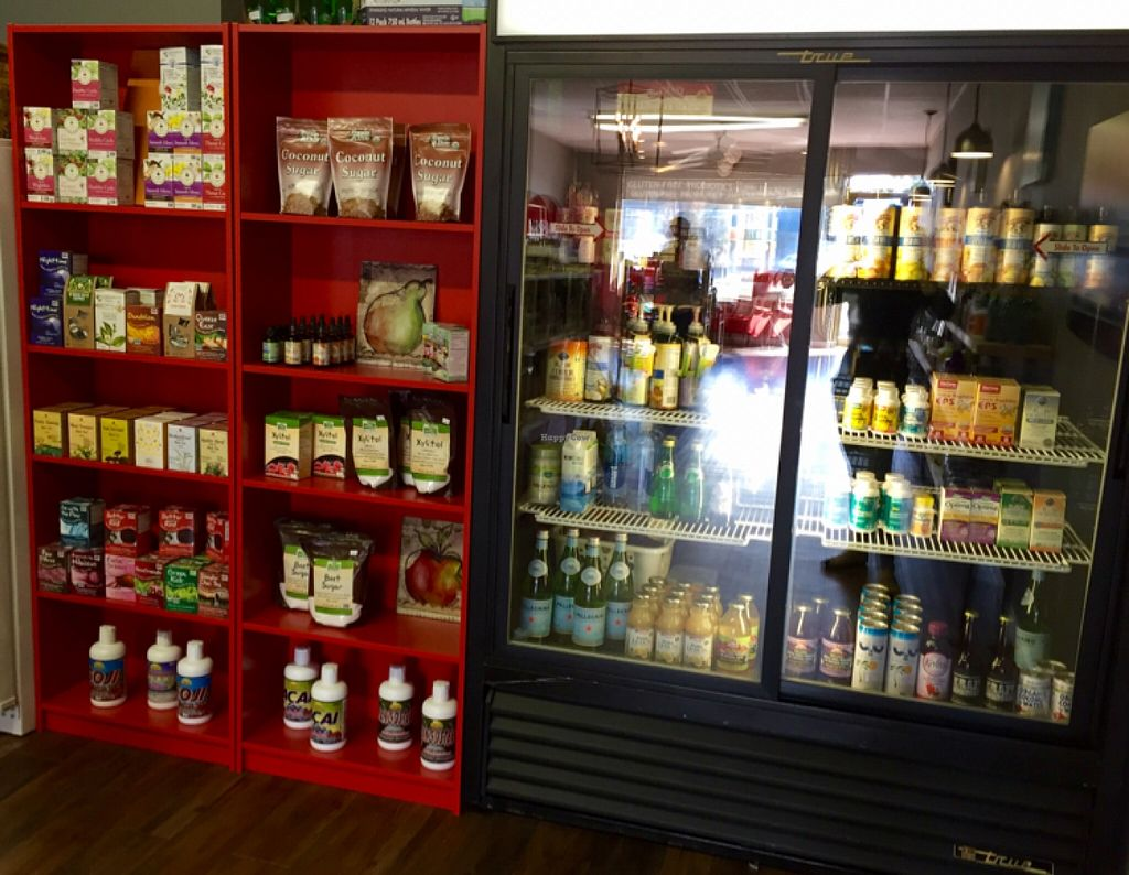 """Photo of Red Bird Vitamin Co.  by <a href=""""/members/profile/clovely.vegan"""">clovely.vegan</a> <br/>refrigerated supplements, teas, snacks.  <br/> November 7, 2015  - <a href='/contact/abuse/image/65456/124186'>Report</a>"""