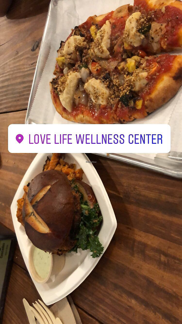 "Photo of Love Life Wellness Center & Cafe  by <a href=""/members/profile/jessenia_618"">jessenia_618</a> <br/>Pizza & burger  <br/> January 7, 2018  - <a href='/contact/abuse/image/65465/343809'>Report</a>"