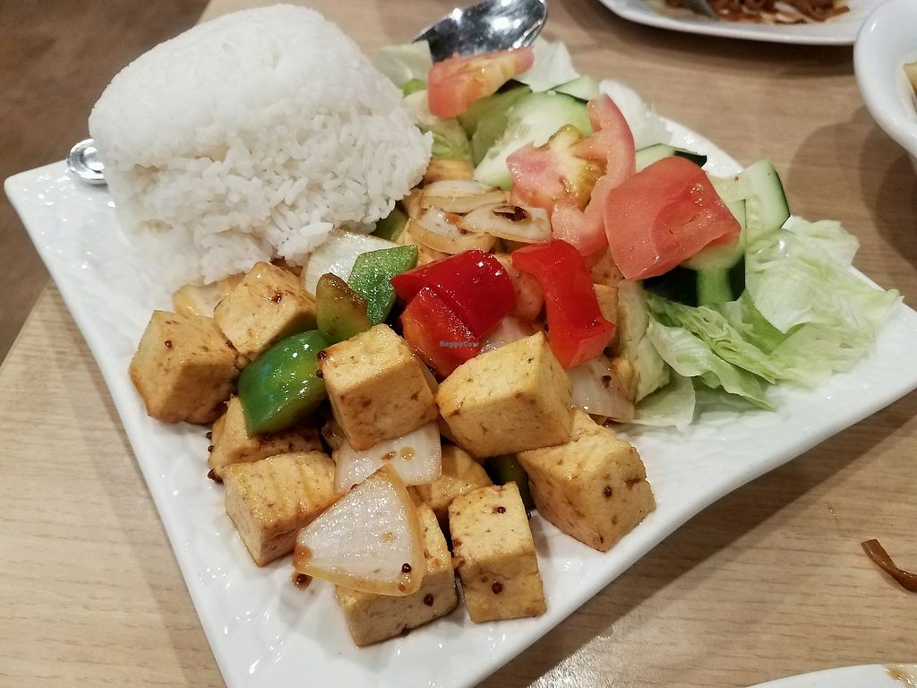 "Photo of Mint & Basil  by <a href=""/members/profile/alexandra_vegan"">alexandra_vegan</a> <br/>Rock n Roll Tofu Rice Plate <br/> March 18, 2018  - <a href='/contact/abuse/image/65472/372280'>Report</a>"