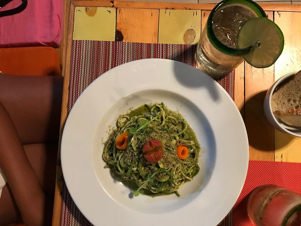 "Photo of Clorofila Green & Vegan  by <a href=""/members/profile/norgon"">norgon</a> <br/>zucchini pasta <br/> July 4, 2017  - <a href='/contact/abuse/image/65474/276647'>Report</a>"