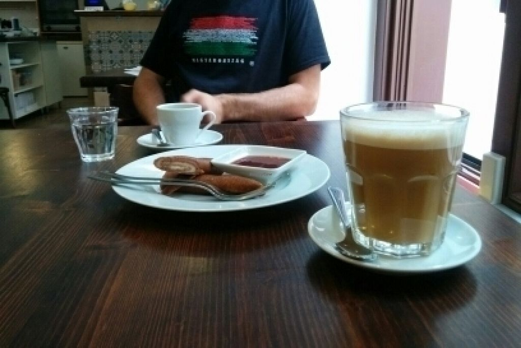 """Photo of Slow Foodiez  by <a href=""""/members/profile/AinoPerttunen"""">AinoPerttunen</a> <br/>Raw crepes and rice cappucino <br/> July 22, 2016  - <a href='/contact/abuse/image/65490/161616'>Report</a>"""