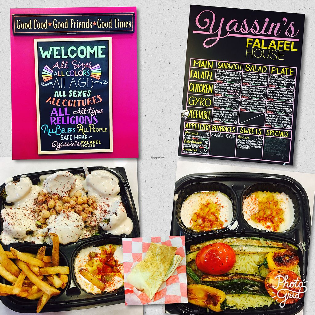 """Photo of Yassin's Falafel House - Walnut St  by <a href=""""/members/profile/plant_munch"""">plant_munch</a> <br/>Great Vegan Food!!  <br/> August 17, 2017  - <a href='/contact/abuse/image/65504/293784'>Report</a>"""