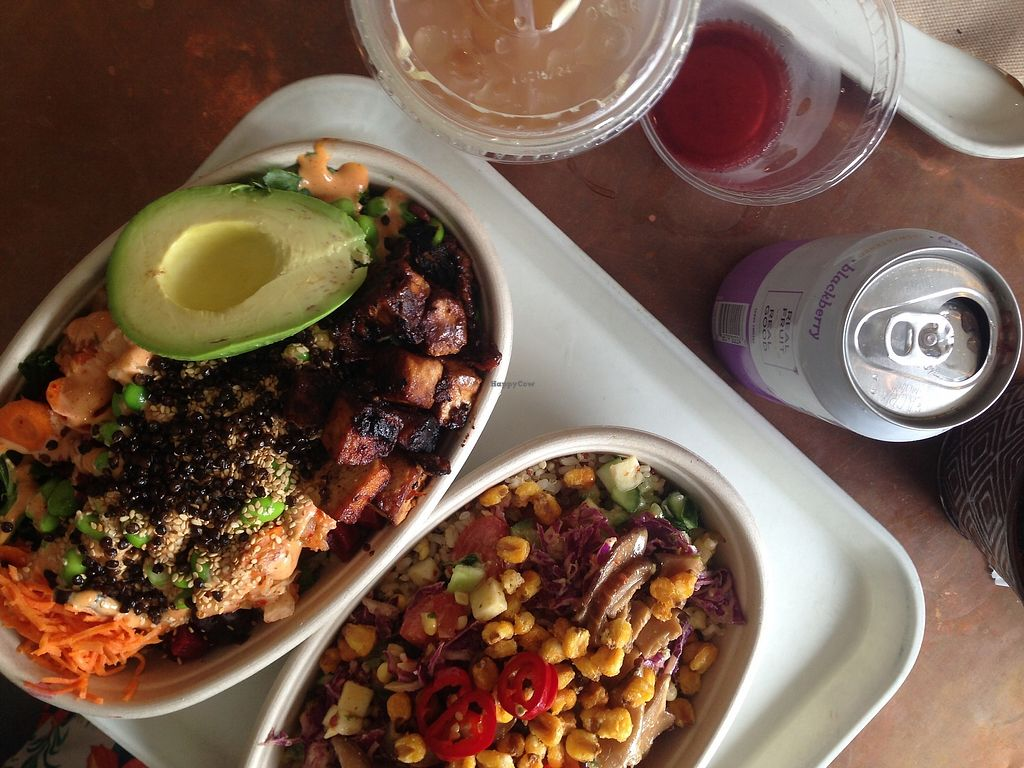 """Photo of Whole Heart Provisions  by <a href=""""/members/profile/TheModernHerbivore"""">TheModernHerbivore</a> <br/>seoul bowl with avocado and BBQ miso tofu and tazon bowl <br/> August 9, 2017  - <a href='/contact/abuse/image/65508/290650'>Report</a>"""