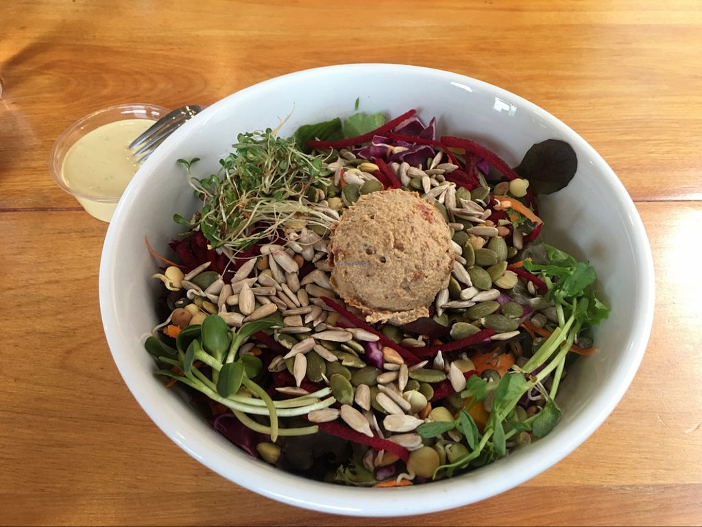 """Photo of Right Path Organic Cafe  by <a href=""""/members/profile/Em-Jay"""">Em-Jay</a> <br/>Action Salad <br/> April 29, 2016  - <a href='/contact/abuse/image/65514/146731'>Report</a>"""