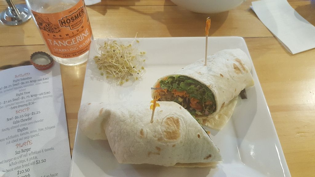 """Photo of Right Path Organic Cafe  by <a href=""""/members/profile/veggie_chef"""">veggie_chef</a> <br/>Monk Bowl as a wrap <br/> June 15, 2017  - <a href='/contact/abuse/image/65514/269279'>Report</a>"""