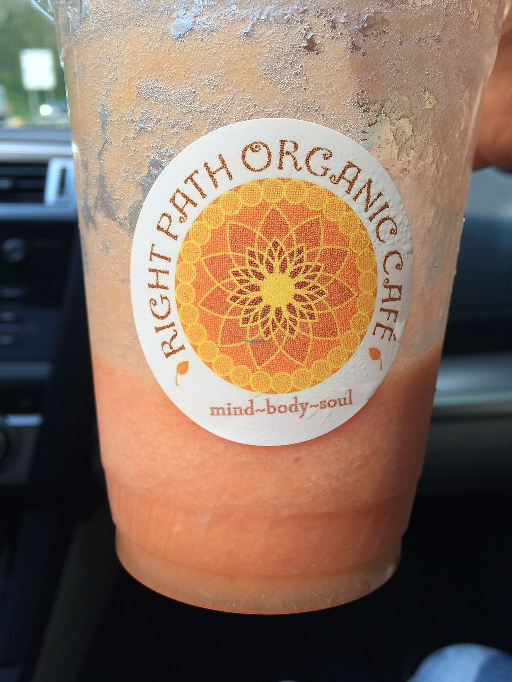 """Photo of Right Path Organic Cafe  by <a href=""""/members/profile/Indyk"""">Indyk</a> <br/>Watermelon, Cantaloupe and Ginger juice <br/> July 20, 2017  - <a href='/contact/abuse/image/65514/282518'>Report</a>"""