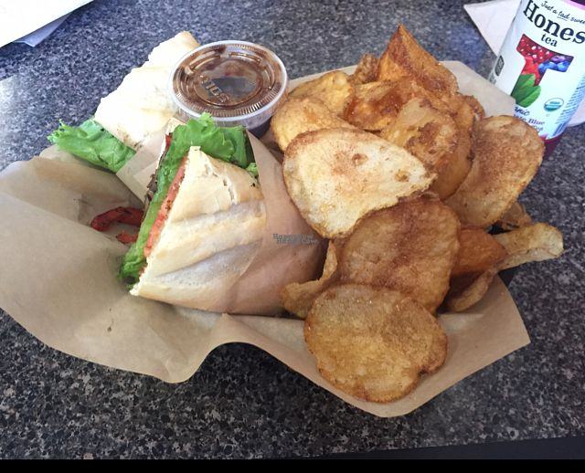 "Photo of Chipwrecked  by <a href=""/members/profile/MackenzieAnn"">MackenzieAnn</a> <br/>Vegan Porta Bella Bella sandwich with cinnamon sugar chips! <br/> September 4, 2016  - <a href='/contact/abuse/image/65541/173636'>Report</a>"