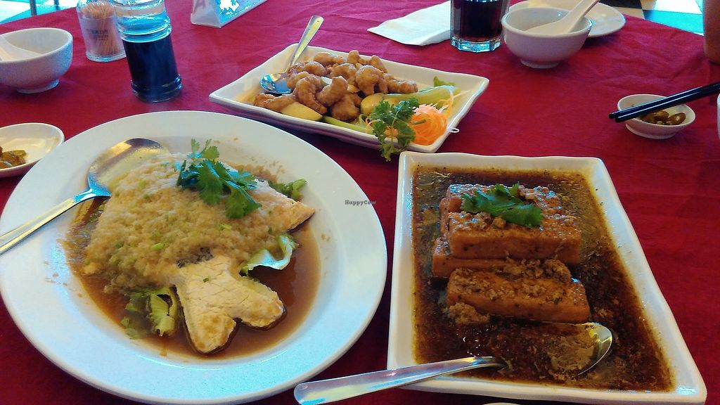 "Photo of Grand Nature Vegetarian  by <a href=""/members/profile/sweeper"">sweeper</a> <br/>Ginger veg fish, apple juice veg prawn and xiang chun tofu