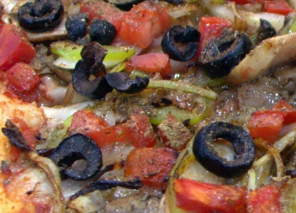"""Photo of Ronny's Pizza  by <a href=""""/members/profile/EricBinder"""">EricBinder</a> <br/>Here is a picture of our Vegan pizza up close and personal.  ჩვენი სამარხვო პიცა <br/> December 3, 2015  - <a href='/contact/abuse/image/65556/237977'>Report</a>"""