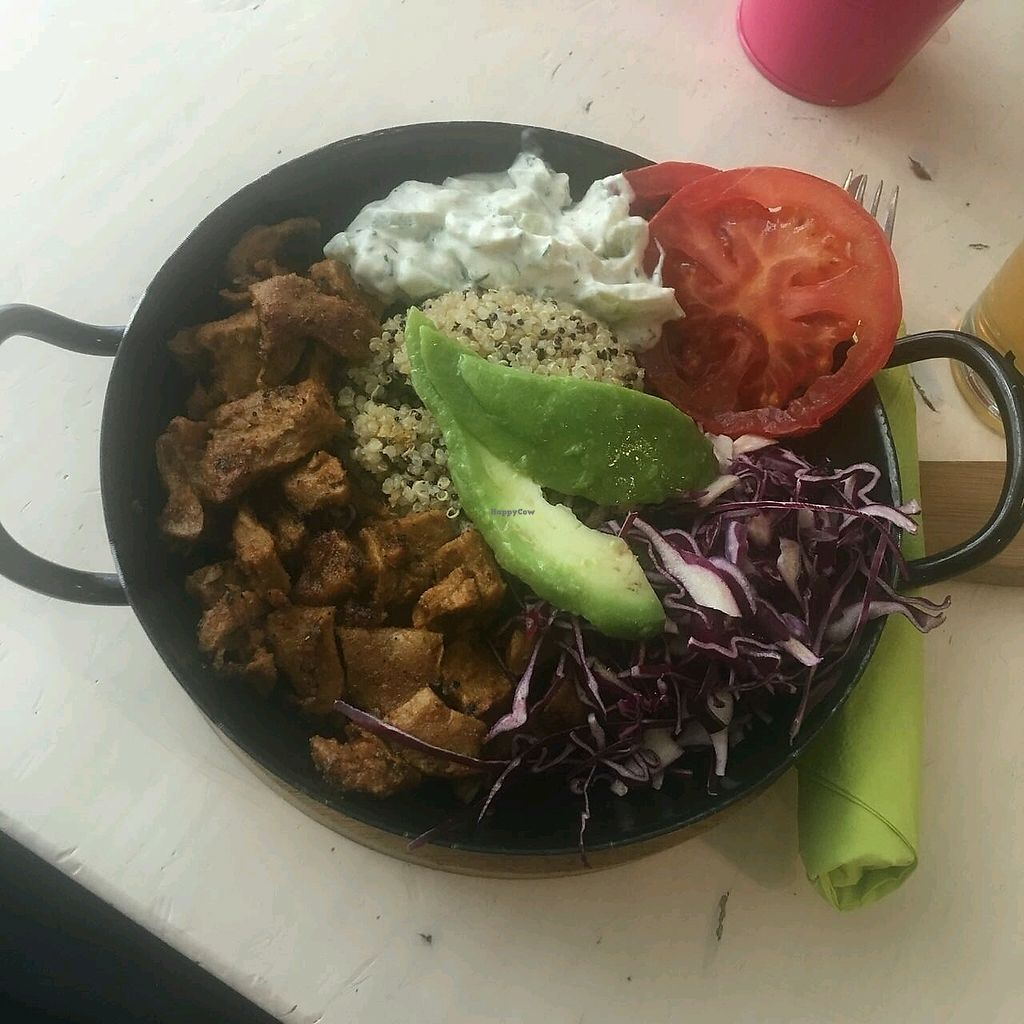 """Photo of Veggiezz - Am Salzgriess  by <a href=""""/members/profile/Wilkou"""">Wilkou</a> <br/>Quinoa Gyros Bowl mit Tzatziki  <br/> April 16, 2018  - <a href='/contact/abuse/image/65561/386889'>Report</a>"""