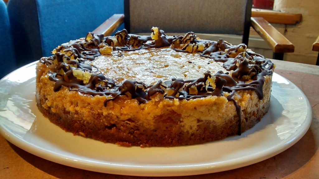 """Photo of The 1 in 12 Club Cafe  by <a href=""""/members/profile/community"""">community</a> <br/>Vegan ginger cheesecake <br/> May 16, 2016  - <a href='/contact/abuse/image/65570/149336'>Report</a>"""