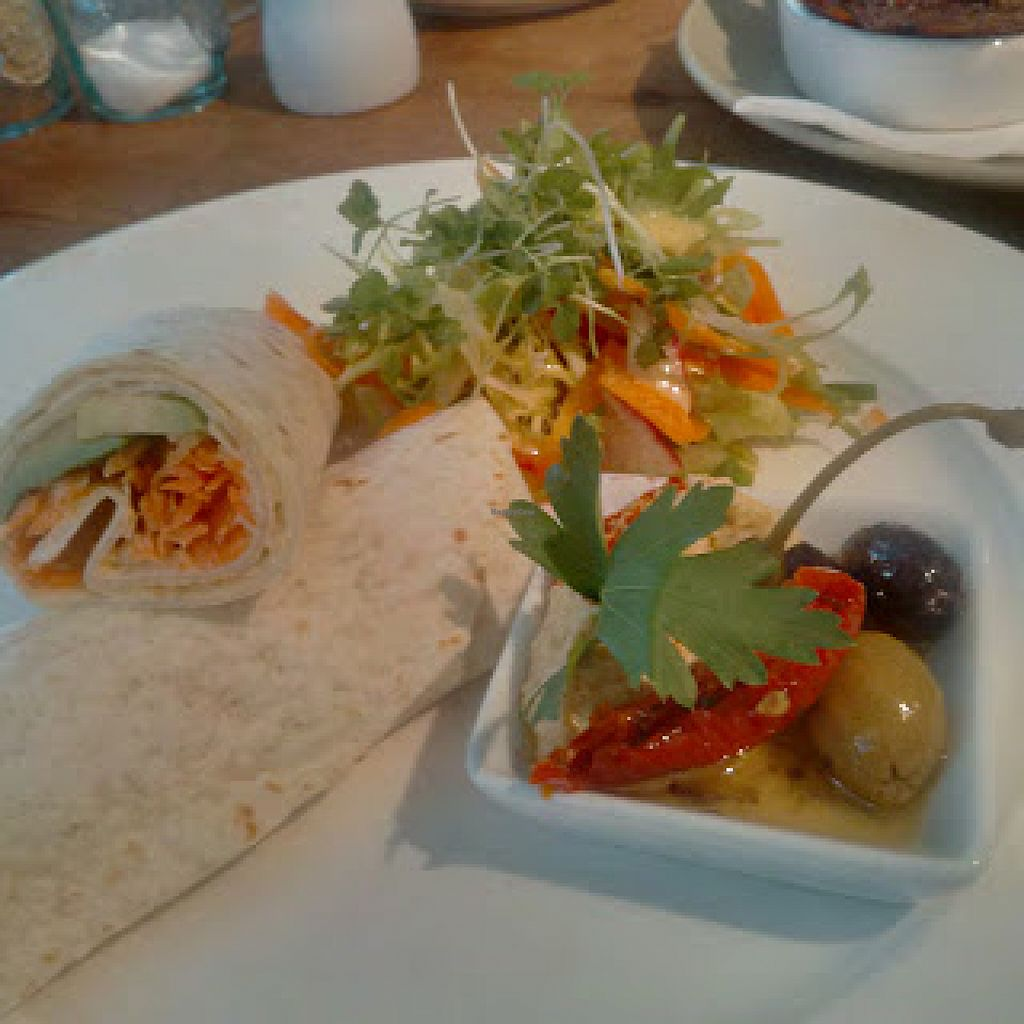 "Photo of The Veggie Cafe  by <a href=""/members/profile/Veganolive1"">Veganolive1</a> <br/>Houmous wrap <br/> June 30, 2016  - <a href='/contact/abuse/image/65575/156942'>Report</a>"