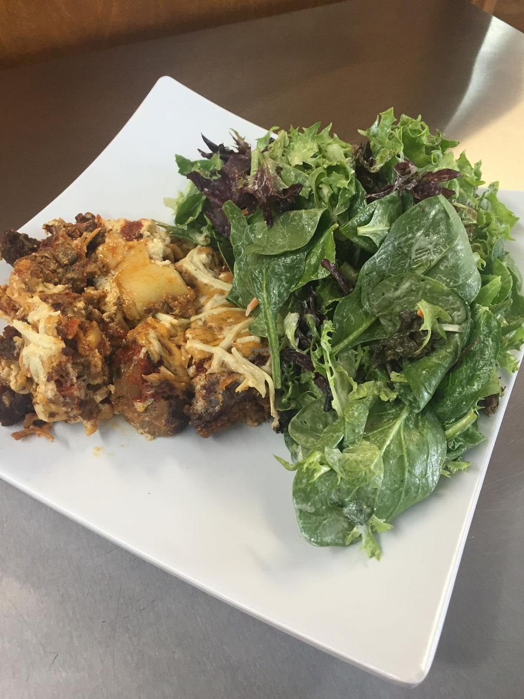 """Photo of CLOSED: Big Earth Cafe  by <a href=""""/members/profile/Doright"""">Doright</a> <br/>Vegan lasagna  <br/> April 24, 2016  - <a href='/contact/abuse/image/65592/146010'>Report</a>"""