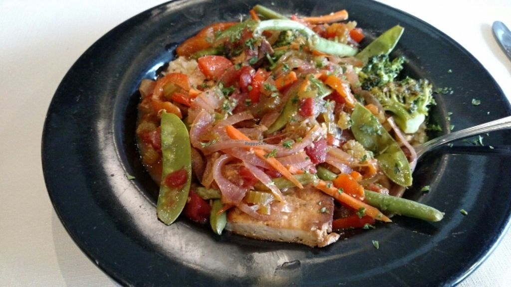 "Photo of Lulu's on Main  by <a href=""/members/profile/Veganmotogirl"">Veganmotogirl</a> <br/>Ginger Garlic Tofu Stir fry <br/> February 8, 2016  - <a href='/contact/abuse/image/6559/135435'>Report</a>"