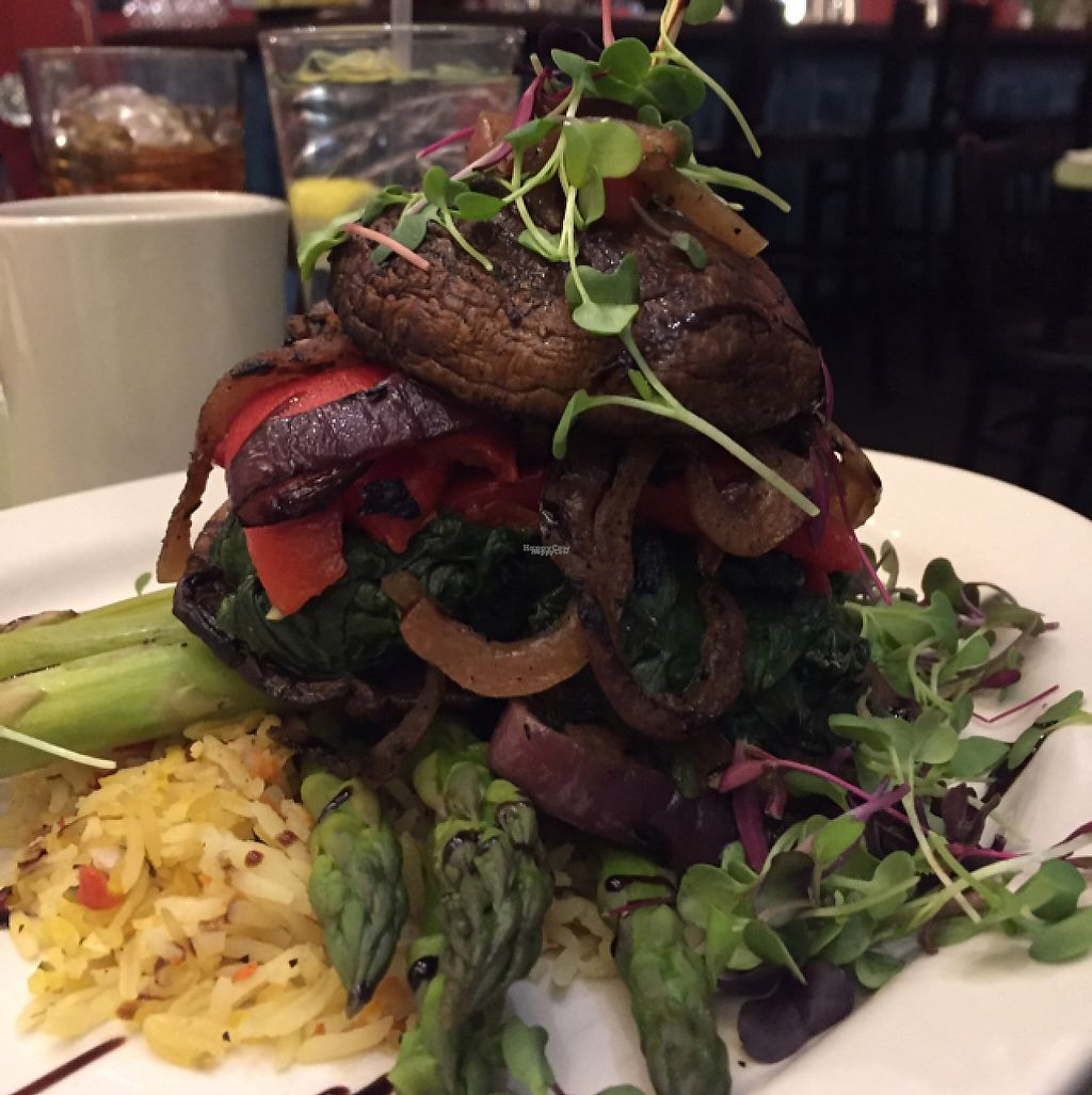 "Photo of Lulu's on Main  by <a href=""/members/profile/KWood"">KWood</a> <br/>Portobello rice & veggies  <br/> November 22, 2016  - <a href='/contact/abuse/image/6559/193026'>Report</a>"