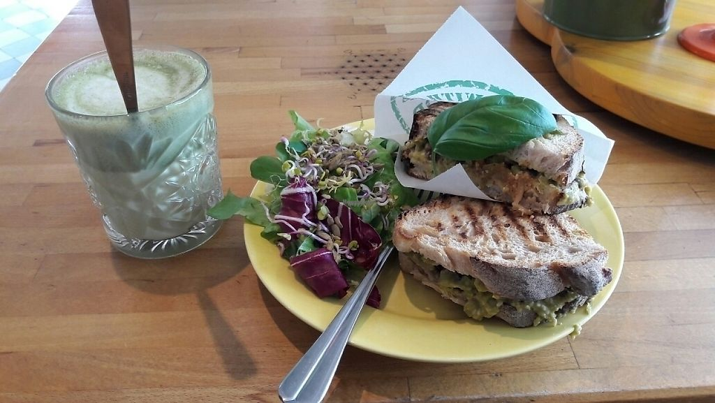 """Photo of Green Queen  by <a href=""""/members/profile/piffelina"""">piffelina</a> <br/>Sandwich and matcha latte  <br/> March 25, 2017  - <a href='/contact/abuse/image/65625/240702'>Report</a>"""