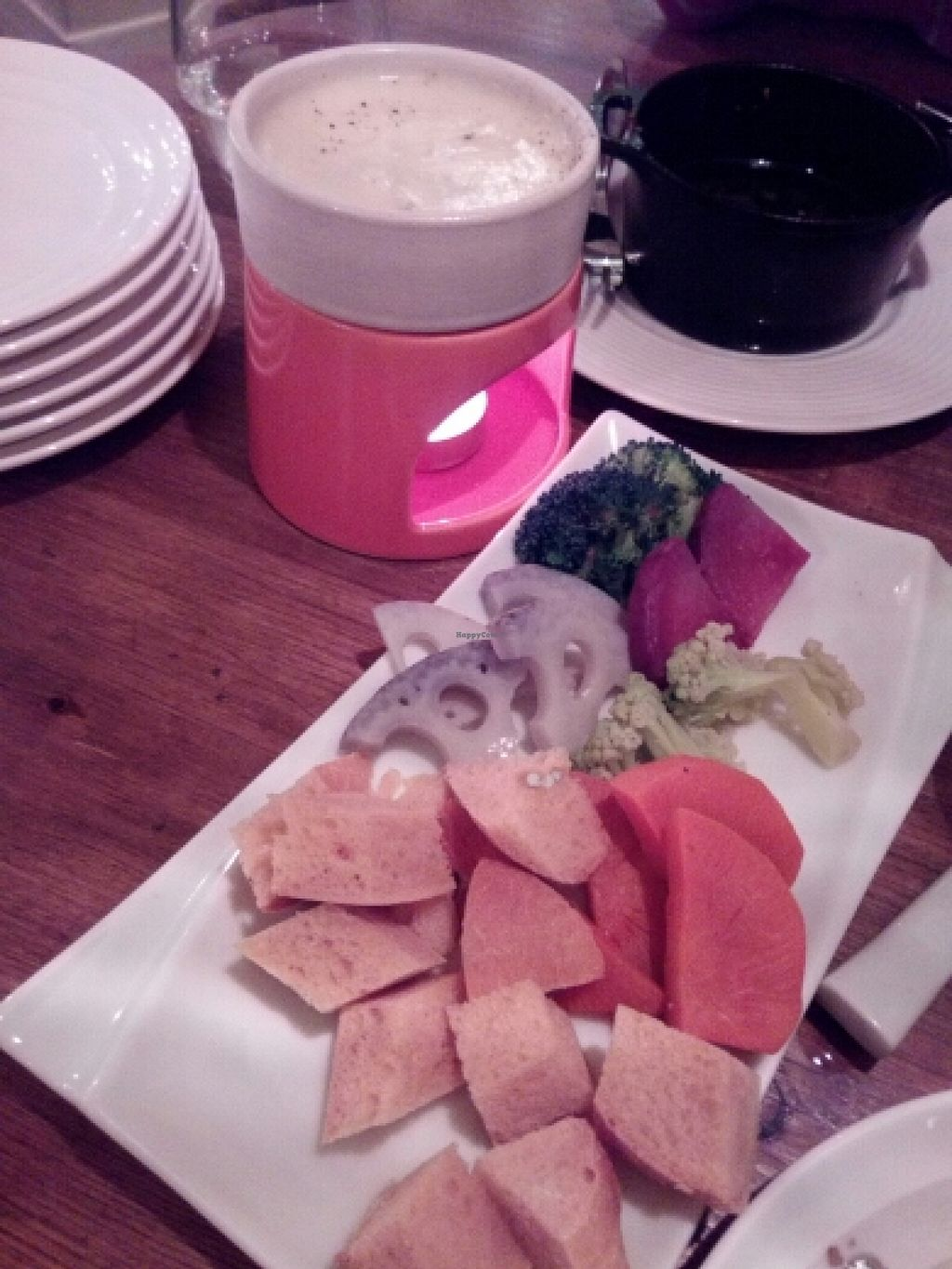 """Photo of Longing House  by <a href=""""/members/profile/freesiaoriental"""">freesiaoriental</a> <br/>Partly eaten vegetable cheese fondue <br/> February 21, 2016  - <a href='/contact/abuse/image/65638/137152'>Report</a>"""
