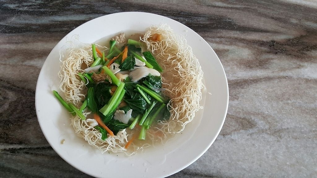 Photo of Sin Yuan Vegetarian  by Raphael_Dane <br/>i think this was kuey teow noodle soup <br/> December 9, 2016  - <a href='/contact/abuse/image/65654/198617'>Report</a>