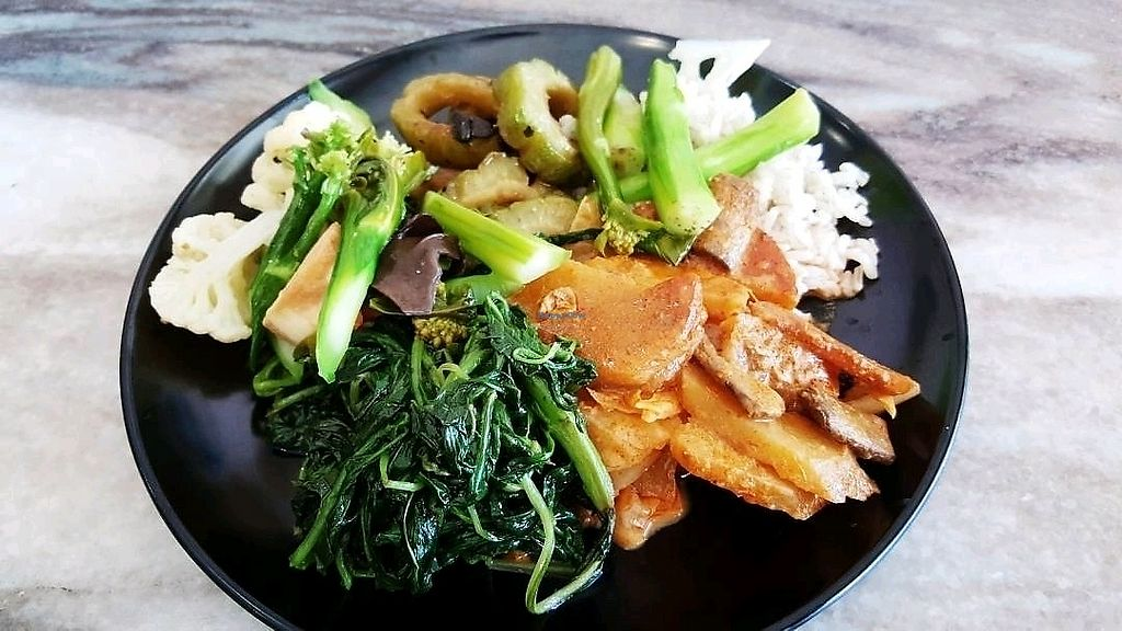 """Photo of Sin Yuan Vegetarian  by <a href=""""/members/profile/RoyHongPingWei"""">RoyHongPingWei</a> <br/>mix economy rice <br/> October 23, 2017  - <a href='/contact/abuse/image/65654/317917'>Report</a>"""
