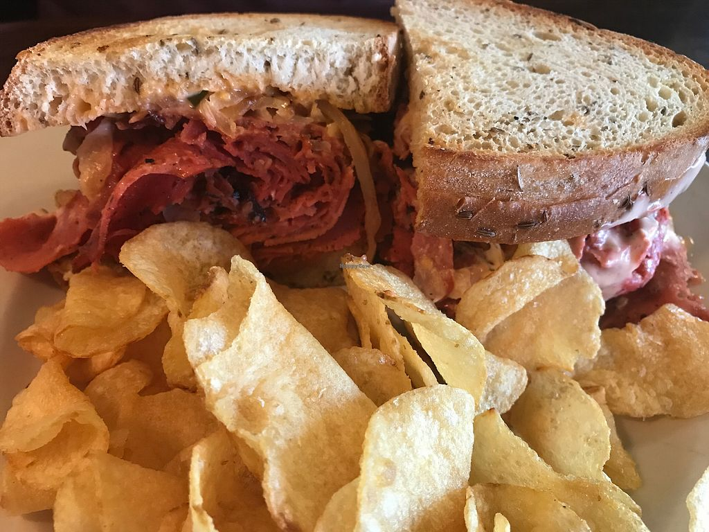 """Photo of Starky's Authentic Americana  by <a href=""""/members/profile/MyGreenTongue"""">MyGreenTongue</a> <br/>vegan Ruben <br/> July 5, 2017  - <a href='/contact/abuse/image/65676/276918'>Report</a>"""