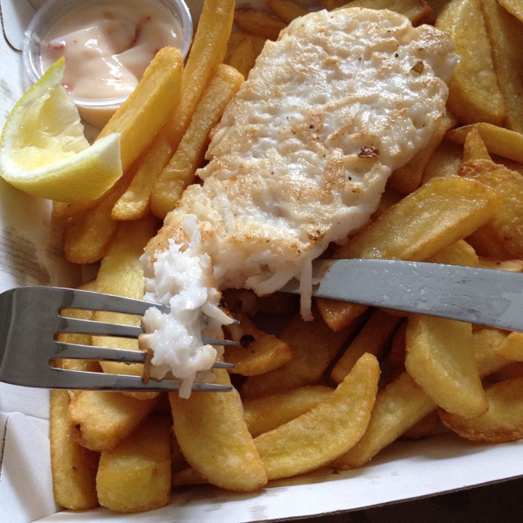 "Photo of Bliss & Chips  by <a href=""/members/profile/chapstick"">chapstick</a> <br/>grilled fish with chips & chilli lime mayo <br/> March 26, 2016  - <a href='/contact/abuse/image/65679/141347'>Report</a>"