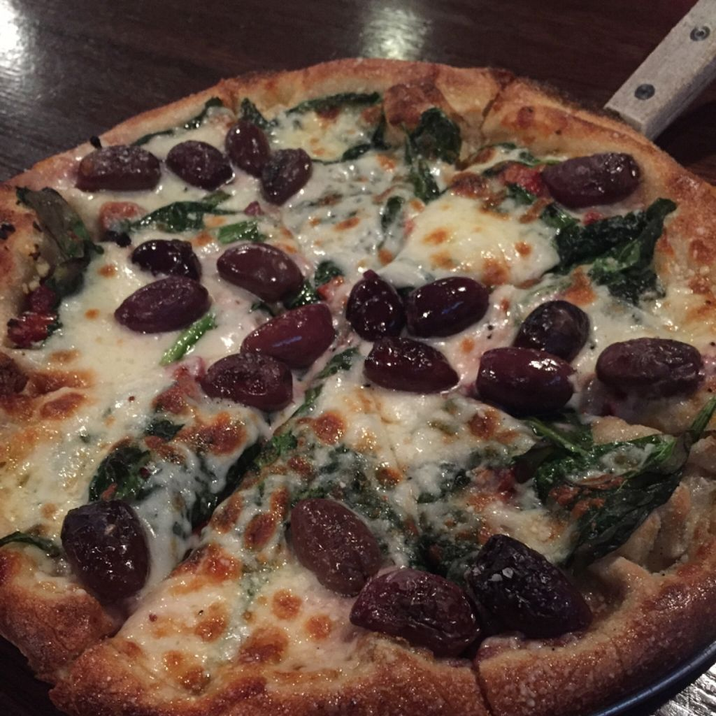 """Photo of Tomato Bar Pizza Bakery  by <a href=""""/members/profile/happycowgirl"""">happycowgirl</a> <br/>the Green House pizza (can get it vegan w Daiya cheese) <br/> March 24, 2016  - <a href='/contact/abuse/image/65691/141201'>Report</a>"""