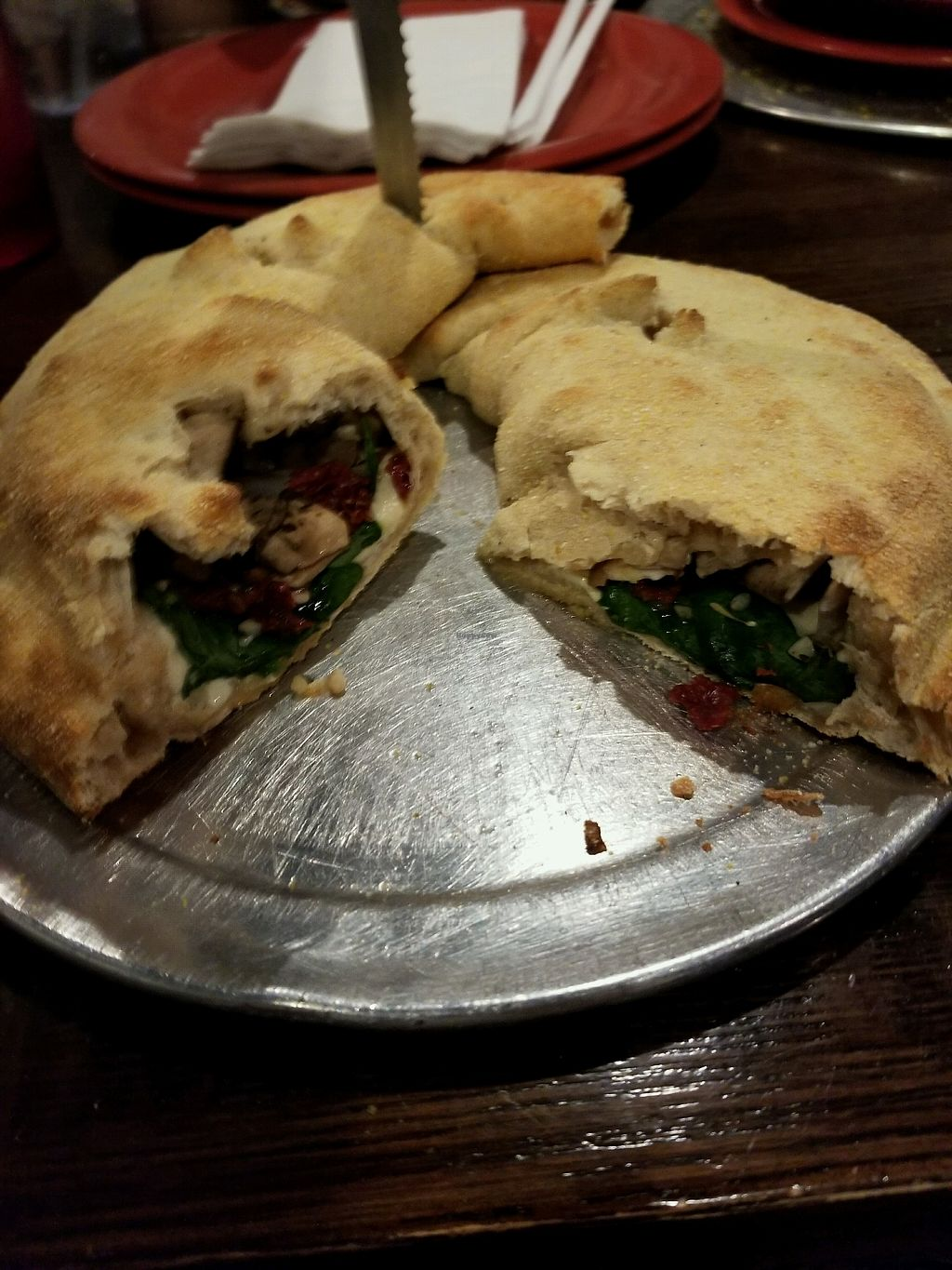 """Photo of Tomato Bar Pizza Bakery  by <a href=""""/members/profile/RachelSarahGeorge"""">RachelSarahGeorge</a> <br/>Hot Box calzone <br/> December 17, 2017  - <a href='/contact/abuse/image/65691/336531'>Report</a>"""
