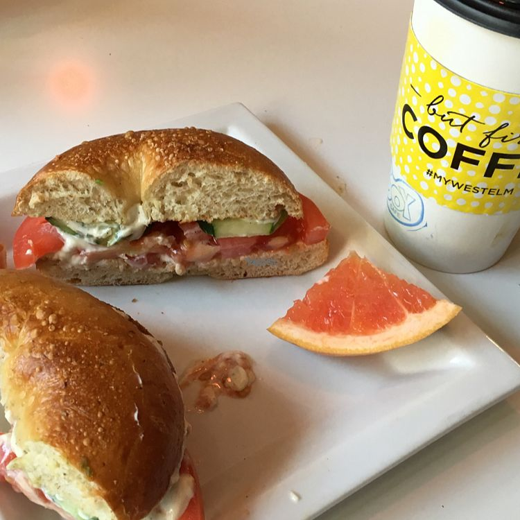 "Photo of Soy Cafe  by <a href=""/members/profile/JosephD"">JosephD</a> <br/>fresh bagel with tomato cucumber and vegan cream cheese <br/> September 22, 2016  - <a href='/contact/abuse/image/6569/177410'>Report</a>"
