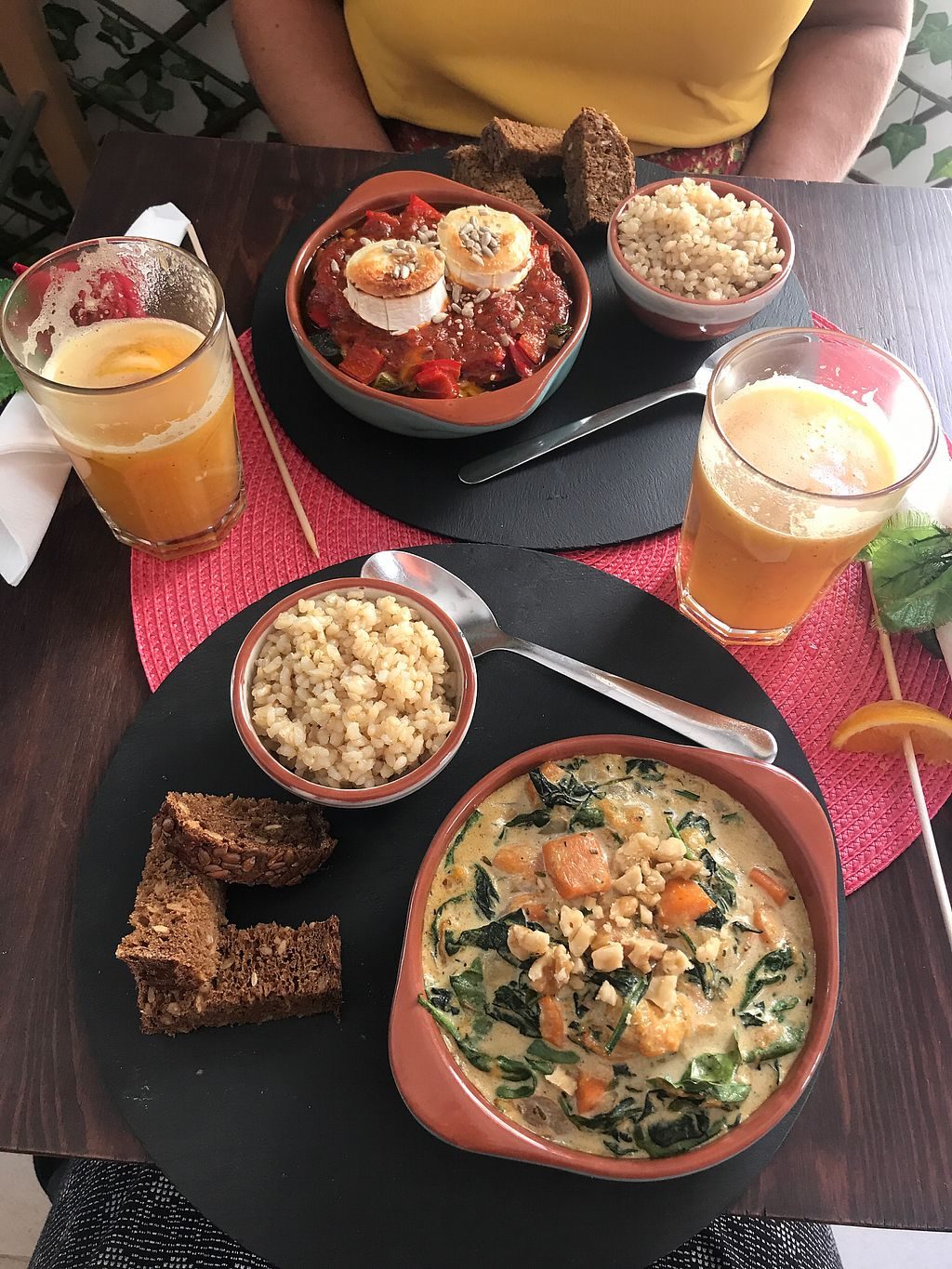 """Photo of Dona Flor Cafe  by <a href=""""/members/profile/ERodTM"""">ERodTM</a> <br/>Spanish Pisto up top (vegetarian) and a Squash & Spinach soup (vegan) in front of me. Both delicious <br/> September 8, 2017  - <a href='/contact/abuse/image/65709/302163'>Report</a>"""