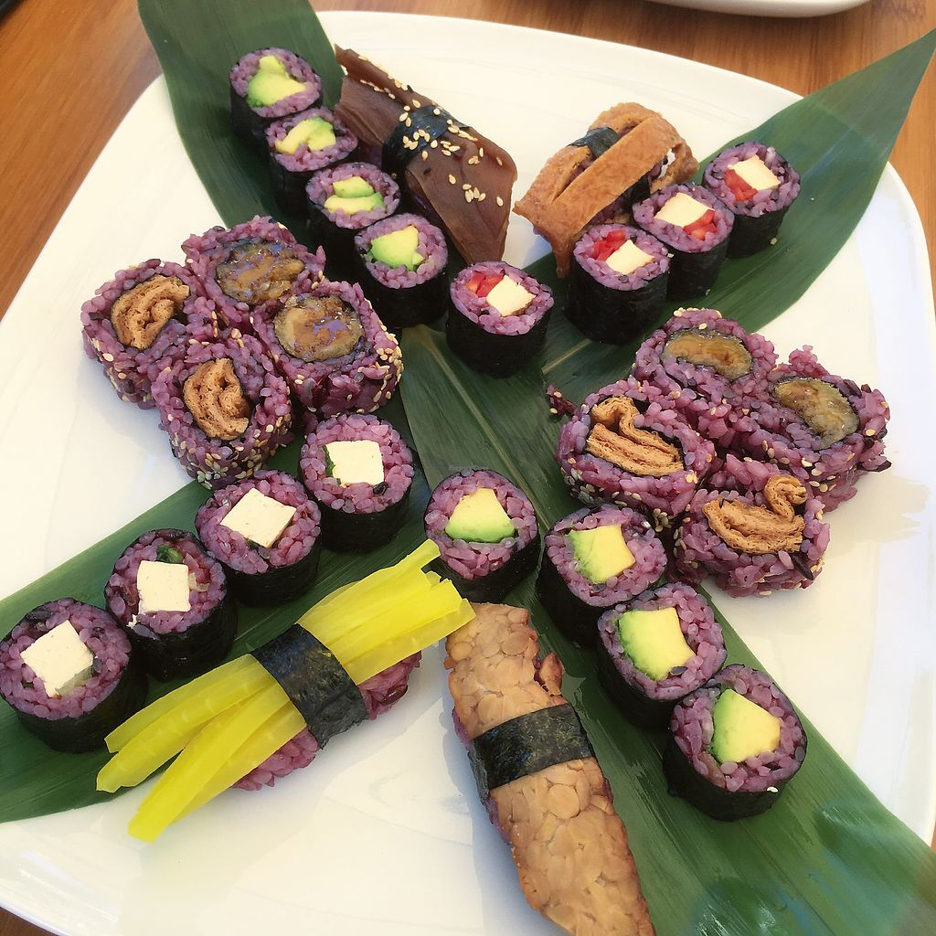 """Photo of Edamame Vegan Sushi  by <a href=""""/members/profile/MorganCrawford"""">MorganCrawford</a> <br/>mixed platter  <br/> June 29, 2017  - <a href='/contact/abuse/image/65741/274931'>Report</a>"""
