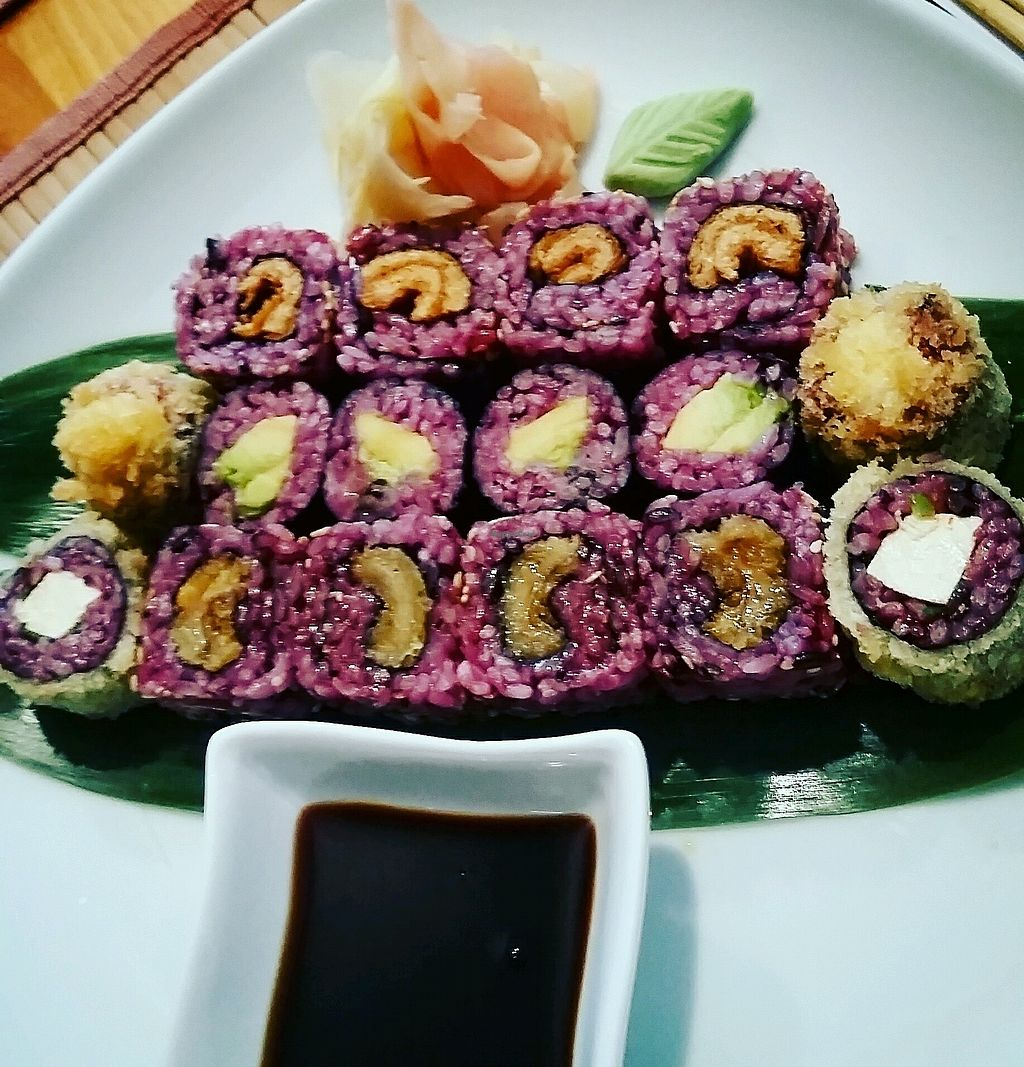 """Photo of Edamame Vegan Sushi  by <a href=""""/members/profile/LaurenSebek"""">LaurenSebek</a> <br/>mixed plate <br/> August 31, 2017  - <a href='/contact/abuse/image/65741/299520'>Report</a>"""
