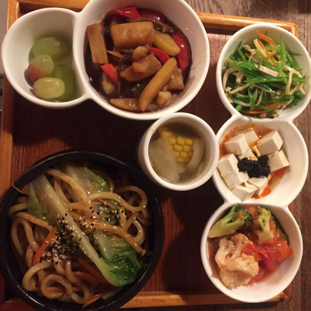 """Photo of CLOSED: WGT Vegetarian Fine Dining  by <a href=""""/members/profile/Kfds15"""">Kfds15</a> <br/>vegan chef special <br/> December 5, 2015  - <a href='/contact/abuse/image/65752/127284'>Report</a>"""